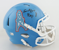 """Earl Campbell Signed Oilers Full-Size Speed Helmet Inscribed """"HOF 91"""" (Fiterman Hologram) (See Description) at PristineAuction.com"""