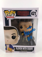 """Millie Bobby Brown Signed """"Stranger Things"""" #421 Eleven with Eggos Funko Pop! Vinyl Figure Inscribed """"011"""" (JSA COA) at PristineAuction.com"""