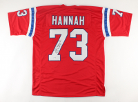 "John Hannah Signed Jersey Inscribed ""HOF 91"" (PSA COA) at PristineAuction.com"