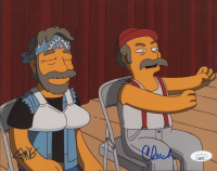 """Cheech Marin & Tommy Chong Signed """"The Simpsons"""" 8x10 Photo (JSA Hologram) at PristineAuction.com"""
