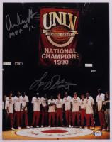 "Larry Johnson & Anderson Hunt Signed UNLV Runnin' Rebels 11x14 Photo Inscribed ""MVP"" (PSA COA) at PristineAuction.com"