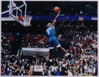 Larry Johnson Signed Hornets 11x14 Photo (PSA COA) at PristineAuction.com