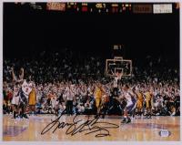 Larry Johnson Signed Knicks 11x14 Photo (PSA COA) at PristineAuction.com