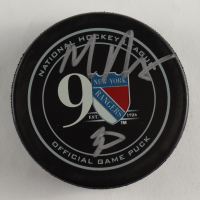Mike Richter Signed Rangers Logo Hockey Puck (Beckett COA) at PristineAuction.com