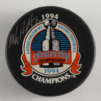 Mike Richter Signed 1994 Stanley Cup Logo Hockey Puck (Beckett COA) at PristineAuction.com