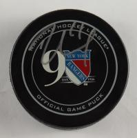 Rick Nash Signed Rangers Logo Hockey Puck (Beckett COA) at PristineAuction.com