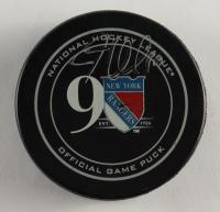 J.T. Miller Signed Rangers Logo Hockey Puck (Beckett COA) at PristineAuction.com