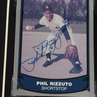 Phil Rizzuto Signed Yankees 14x18 Custom Matted Card Display with Photo (Beckett COA) at PristineAuction.com
