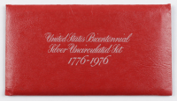 1776-1976 United States Bicentennial Silver Uncirculated Set with (3) Coins with Original Packaging at PristineAuction.com