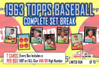 """""""1963 TOPPS BASEBALL COMPLETE SET BREAK"""" Mystery BOX– 7 CARDS PER BOX at PristineAuction.com"""