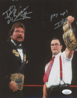 """Ted DiBiase & I.R.S. Signed WWE 8x10 Photo Inscribed """"Pay Up!"""" (JSA COA) at PristineAuction.com"""