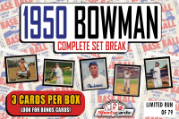 "1950 BOWMAN BASEBALL COMPLETE SET BREAK"" MYSTERY BOX– 3 CARDS PER BOX at PristineAuction.com"