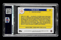 """Nolan Ryan Signed 2020 Topps Now Turn Back The Clock #28 Inscribed """"All Time K King"""" (PSA Encapsulated) at PristineAuction.com"""
