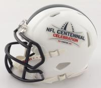 "O. J. Simpson Signed NFL Centennial Celebration Speed Mini-Helmet Inscribed ""NFL Top 100"" (JSA COA) at PristineAuction.com"