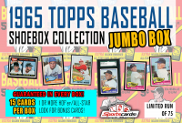 """1965 Topps Baseball Shoebox Collection Box"""" Mystery Box – 15 Cards Per Box! at PristineAuction.com"""