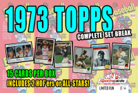 """""""1973 TOPPS BASEBALL COMPLETE SET BREAK"""" Mystery BOX– 15 CARDS PER BOX at PristineAuction.com"""