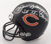 "Dan Hampton & Mark Bortz Signed Bears Mini-Helmet Inscribed ""SB XX Champs"" (Beckett COA) at PristineAuction.com"