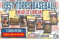 1957 Topps Baseball Near Set Break MYSTERY BOX – 3 Cards Per Box! 2 GRADED! at PristineAuction.com