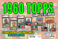 """""""1960 TOPPS FOOTBALL COMPLETE SET BREAK"""" BOX– 5 CARDS PER BOX at PristineAuction.com"""