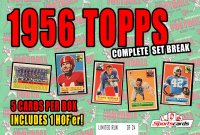 """""""1956 TOPPS FOOTBALL COMPLETE SET BREAK"""" Mystery BOX – 5 CARDS PER BOX at PristineAuction.com"""