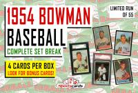 """1954 BOWMAN BASEBALL COMPLETE SET BREAK"" Mystery BOX– 4 CARDS PER BOX at PristineAuction.com"