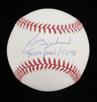 "Kerry Wood Signed OML Baseball Inscribed ""98 ROY"", ""20 K's"" & ""5-6-98"" (JSA COA) at PristineAuction.com"