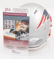 J. C. Jackson Signed Patriots Speed Mini-Helmet (JSA COA) at PristineAuction.com