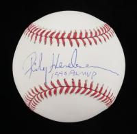"Rickey Henderson Signed OML Baseball Inscribed ""1998 AL MVP"" (JSA COA) at PristineAuction.com"