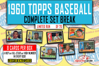 1960 TOPPS BASEBALL COMPLETE SET BREAK MYSTERY BOX– 8 CARDS PER BOX at PristineAuction.com