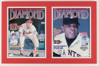 Brooks Robinson & Willie Mays Signed 13.5x20.5 Custom Matted Photo Display (JSA COA) at PristineAuction.com