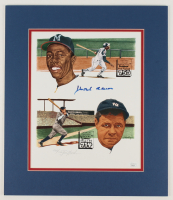 Hank Aaron Signed LE 15x17.5 Custom Matted Photo Display (JSA COA) at PristineAuction.com