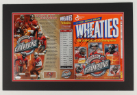 Mike Alstott Twice-Signed 16x24 Custom Matted Wheaties Box Display (JSA COA) at PristineAuction.com
