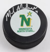 Mike Modano Signed North Stars Logo Hockey Puck (Beckett COA) at PristineAuction.com