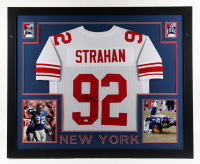 Michael Strahan Signed 35x43 Custom Framed Jersey Display (Beckett COA) (See Description) at PristineAuction.com