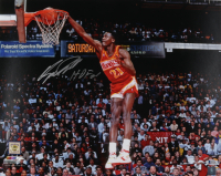 """Dominique Wilkins Signed Hawks 16x20 Photo Inscribed """"HOF 01"""" (Beckett Hologram) at PristineAuction.com"""