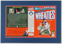 "Nolan Ryan Signed 14.5x21.5 Custom Matted Wheaties Box Display Inscribed ""H.O.F. '99"" (JSA COA) at PristineAuction.com"