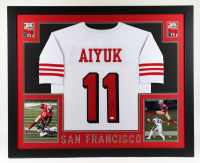 Brandon Aiyuk Signed 35x43 Custom Framed Jersey Display (Beckett COA) at PristineAuction.com