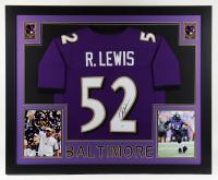 Ray Lewis Signed 35x43 Custom Framed Jersey Display (Beckett COA) at PristineAuction.com
