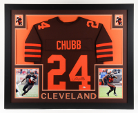 Nick Chubb Signed 35x43 Custom Framed Jersey Display (Beckett Hologram) at PristineAuction.com