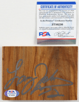 Larry Johnson Signed 3.5x5 Floor Board Piece (PSA COA) at PristineAuction.com