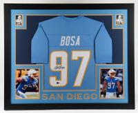 Joey Bosa Signed 35x43 Custom Framed Jersey Display (Beckett Hologram) at PristineAuction.com