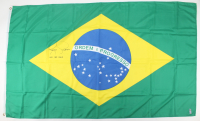 """Royce Gracie Signed Full-Size 2x3 Brazil Flag Inscribed """"UFC HOF 2003"""" (PA COA) at PristineAuction.com"""