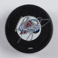 Callan Foote Signed Avalanche Logo Hockey Puck (JSA COA) at PristineAuction.com