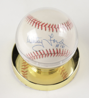 Whitey Ford Signed OAL Baseball in Display Case (JSA COA) at PristineAuction.com