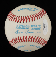Carl Yastrzemski Signed OAL Baseball in Display Case (JSA COA) at PristineAuction.com