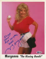"""Morganna The Kissing Bandit Signed 8x10 Photo Inscribed """"Keep Your Eye On The Ball!"""" (Beckett COA) at PristineAuction.com"""