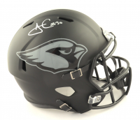 James Conner Signed Cardinals Full-Size Authentic On-Field Matte Black Speed Helmet (TSE COA) at PristineAuction.com