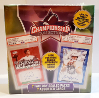 2021 Championship Collection Football Mega Box - Contains 7 Sealed Factory Packs at PristineAuction.com