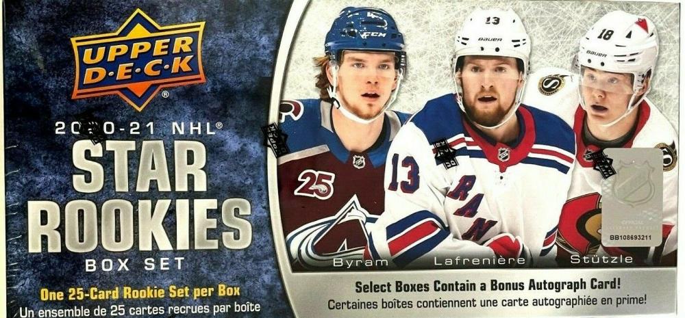2020-21 Upper Deck NHL Rookie Box Set at PristineAuction.com