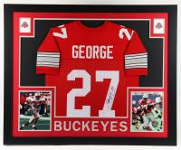 Eddie George Signed 35x43 Custom Framed Jersey Display (JSA Hologram) at PristineAuction.com